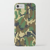 military iPhone & iPod Cases featuring Military - Camouflage by Three of the Possessed