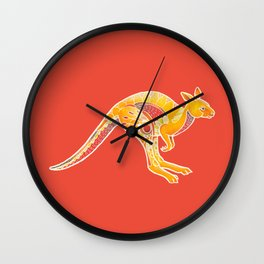 Mandala Kangaroo Wall Clock