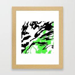 Green and Black Framed Art Print