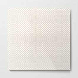 Eggnog and White Polka Dots Metal Print