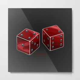 I Want ISK Dice Metal Print