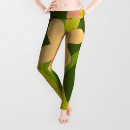 Modern Floral Spring Pattern Leggings