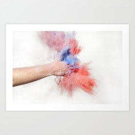 Powder Art Print