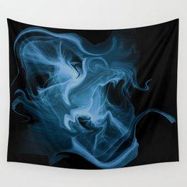 Blue Universe Fractal Art Wall Tapestry