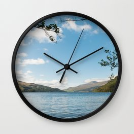 Scenic view of Loch Tay in Kenmore in Scotland Wall Clock
