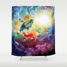 Majestic Whale Shower Curtain
