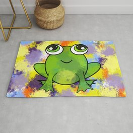 Cute frog and fresh paint Rug