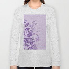Delicate Purple Flower Long Sleeve T-shirt