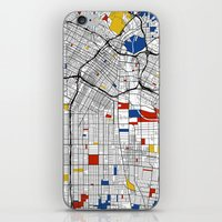 los angeles iPhone & iPod Skins featuring Los Angeles by Mondrian Maps