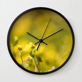 simply yellow Wall Clock