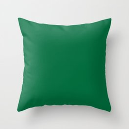 Cadmium Green - solid color Throw Pillow