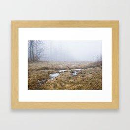 Foggy Hill Framed Art Print