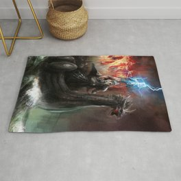 Dragon Viking Ship Rug