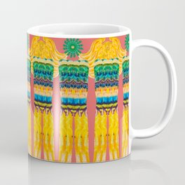 Golden Pillars Pattern Coffee Mug