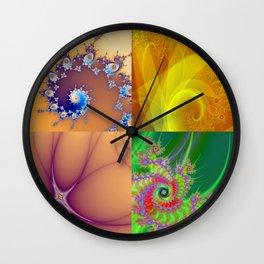 Fractal four Wall Clock