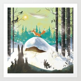 The forest fox Art Print