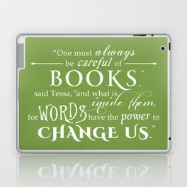 Words Have the Power to Change - Tessa (Med Green) Laptop & iPad Skin