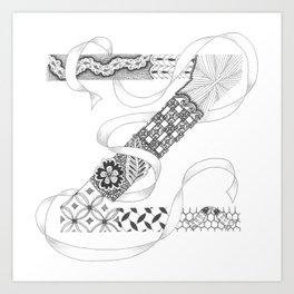 "Zenletter ""Z"" Art Print"