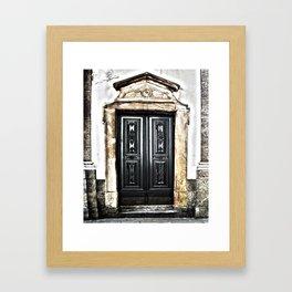 Mahogany Church Door  Framed Art Print