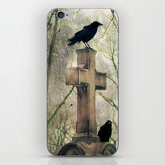 Two Graveyard Crows iPhone & iPod Skin
