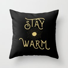 Stay Warm Throw Pillow