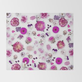 Flower potpourri Throw Blanket