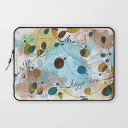 Flourish: Faith. Love. Happiness. Laptop Sleeve