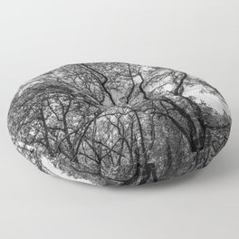 Black and white trees Floor Pillow