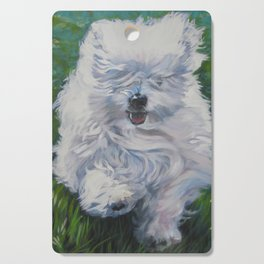 The Coton de Tuléar dog art from an original painting by L.A.Shepard Cutting Board