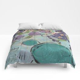 One blue bird Comforters