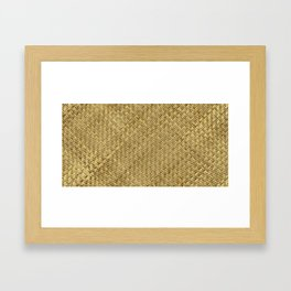 Basket Weaving Framed Art Print