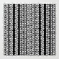 herringbone Canvas Prints featuring Herringbone Stripe by Project M