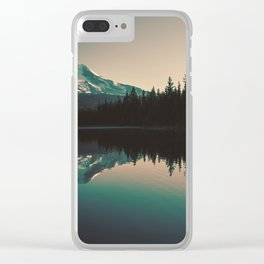 Morning Mountain Adventure Clear iPhone Case