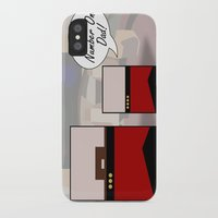 """picard iPhone & iPod Cases featuring """"Number One Dad"""" Minimalist Star Trek TNG The Next Generation Picard startrek Fathers Day Father's  by Trektangles"""