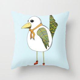 """Rainy Day Bird"" Throw Pillow"