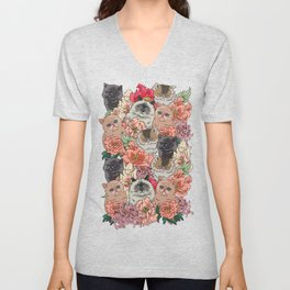 Because Cats Unisex V-Neck