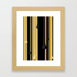 DRIPPING IN GOLD Framed Art Print