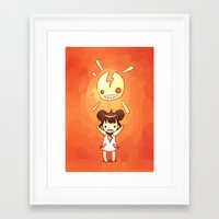 always sunny Framed Art Prints featuring Sunny by Freeminds