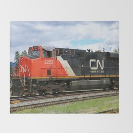 Canadian National Railway Throw Blanket