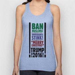 Trump 2016: Ban Muslim, Merry Christmas Unisex Tank Top