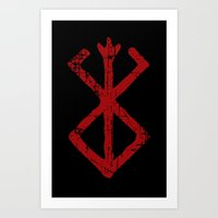 berserk Art Prints featuring berserk by skymerol