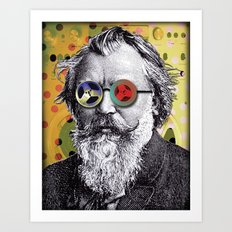 Brahms in Reel to Reel Glasses Art Print