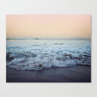 shipping Canvas Prints featuring Crash into Me by Leah Flores