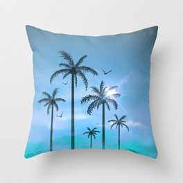 Palm Silouhette 6  Throw Pillow