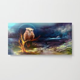 The Phoenix Owl Metal Print