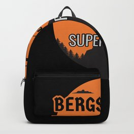 Mountains give you superpowers Backpack