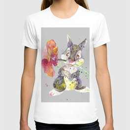 Bunny With flower T-shirt
