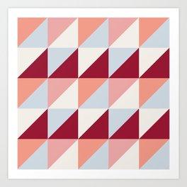 Trio (maroon) Art Print