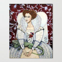 Elizabeth, the Virgin Queen, Queen of Hearts Canvas Print