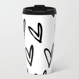 Lovely Hearts - Valentine's pattern Travel Mug